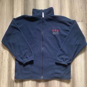 Vintage 90's Team USA Olympics Fleece Jacket